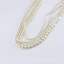Perlas de perlas ABS redondas perla plana / suelto