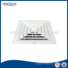 hvac 4 way air ventilation air diffuser