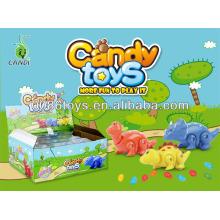 Presione y vaya juguetes de dulces de dinosaurio