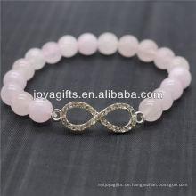 Großhandel Diamante 8 Form mit 8MM Halbedelstein Stretch Armband