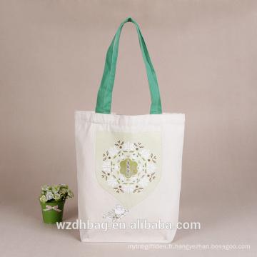 Sac fourre-tout en toile de sac d'épicerie de coton qui respecte l'environnement