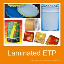 PET Matt Light Gloss Laminated steel for paint can body and cap