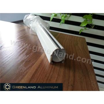 Riel de aluminio para persiana romana con recubrimiento en polvo blanco