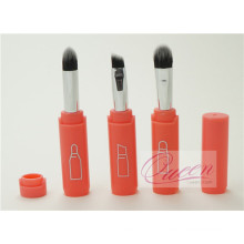 Mini Ensemble de brosse à maquillage 3PCS Orange Hand Travel