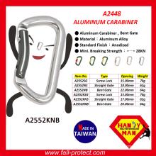 2017 New Design 28KN Taiwan Climbing Carabiner Made Of Aluminum Alloy