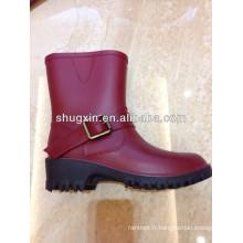 botte de pluie pvc mode papillon womens, Dame chaude pluie, bottes, bottes de pluie en plastique cheap femme