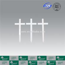 LUXES blanco cementerio estándar de madera cruces Cruz