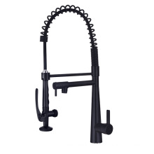 YLK3023B high quality single hole brass black kitchen faucets with pull down sprayer sink kitchen