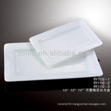 modern white rectangular plates porcelain