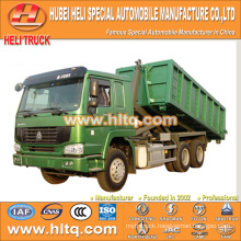 SINOTRUK HOWO 6X4 16CBM LHD hook arm garbage truck 336hp cheap price for sale In China