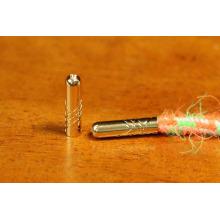 Tenue de fin de cordon / boutons de cordons métalliques / Pointe en dentelle d'or