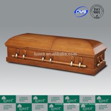LUXES US Veneer Casket Coffin For Funeral Cheap Caskets