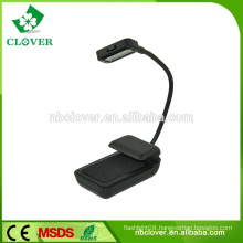 High quality promotional plastic 3 LED book reading light