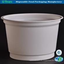 Tazón de fuente de papel con el logotipo de Customed para el alimento