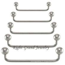 Acier chirurgical 316L Piercing Barbell de surface de 90 degrés