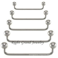 316L Surgical Steel 90 Degree Surface Barbell Piercing