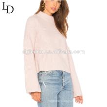 Новый осенний стиль свободного покроя с длинным рукавом мода толстовка черепаха шеи пуловер свитер