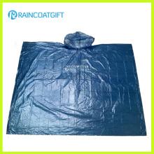 Limpar o Poncho de chuva adulto de emergência PE Rpe-004