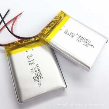 Li-Polymer-Batterie 104050 3.7V 2300mAh Lithium-Batterie