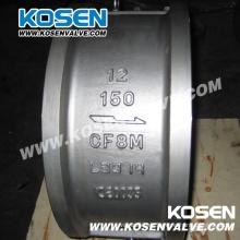 Válvula de retención de acero fundido con doble placa de la oblea API de Kosen