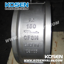 Kosen API Wafer Dual Plate Válvula de retenção de aço fundido
