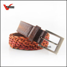 Good quality men's leather belts braided belts