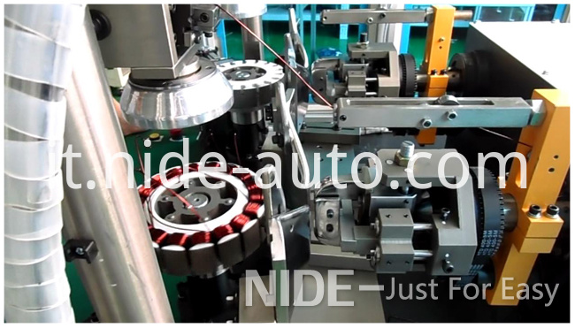 Double-Station-Wheel-Motor-stator-Winding-Machine91