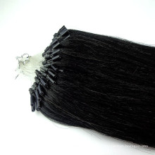 оптовая угольно-черный бразильский микро-кольцо микро-цикла наращивание волос