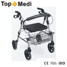 European Type Aluminum Fame Walking Aids Walker with Big Store Bag