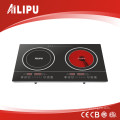 Double Burners Mix Induction and Infrared Cooker for Family Kitchen Sm-Dic03