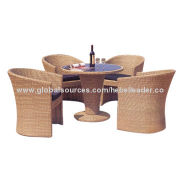 Rattan furniture, 4 chairs + 1 table