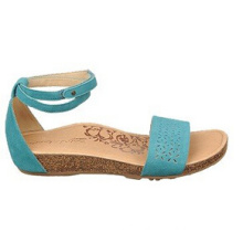 Light Blue Leather or Suede Casual Style Sandals