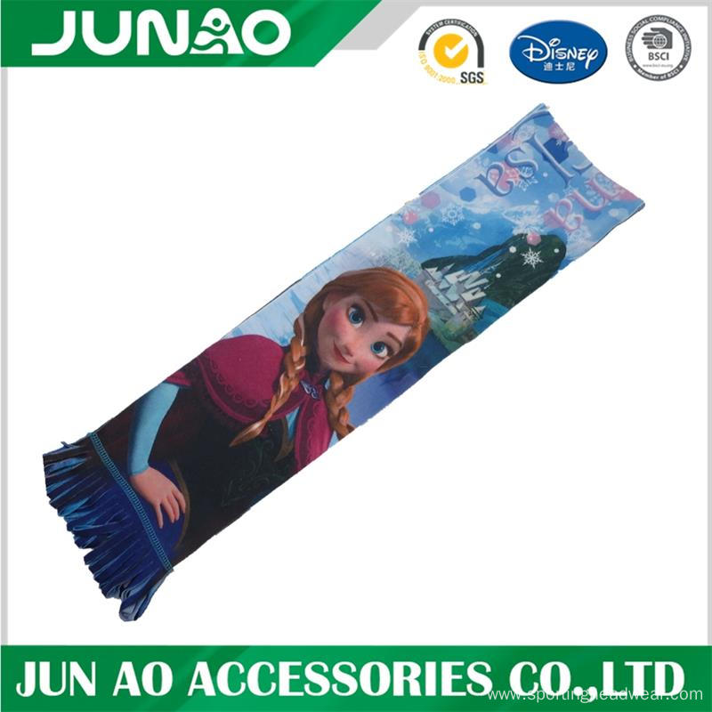 Hotsale fleece scarf with pattern printing