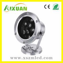 Ip65 lumen élevé 7 * 1w haute puissance lumière de LED sous l'eau avec 2 ans de garantie