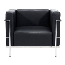 Comercial Furniture Classic Designer Couch Black 1 Seater Le Corbusier LC3 Leather Office Sofa
