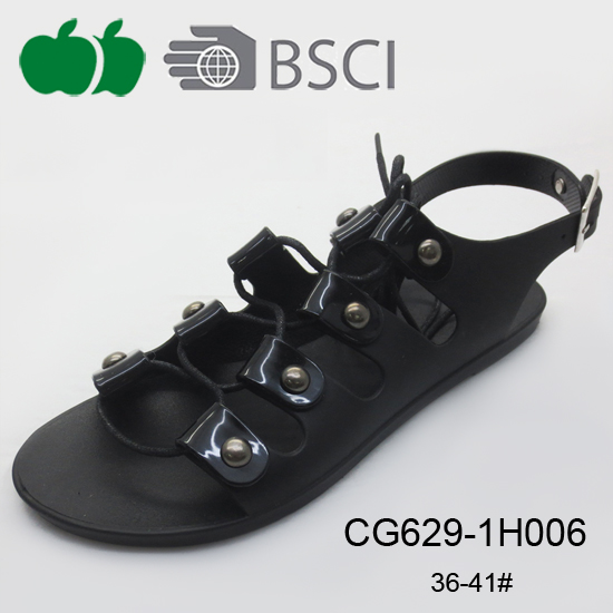 pvc crystal plastic sandals