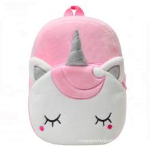 Cute Pink Cartoon Animal Design 3D Mini Kids Unicorn Plush Backpack For Baby