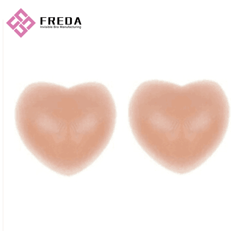 Transparent Heart Shape Invisible Bra Sticker