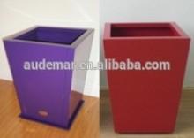 Audemar 2mm Thick Tapered Aluminium Balcony Pot In Powder Coating