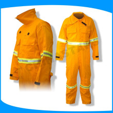 factory price EN14116 flame retardant workwear for fireman wearing