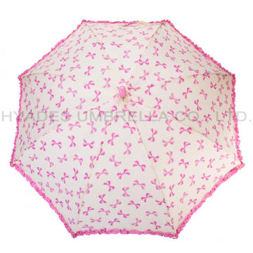 Fille Cute Frill Auto Open Kids Parapluie