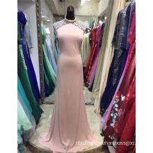 Alibaba China Custom Made Sweetheart Beaded Satin Pink Arabian Evening Dresses