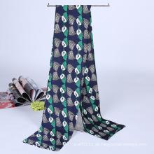 Lady Fashion Printed Satin Seide Magie Mutifunktionale Kragen Schal (YKY1091-1)
