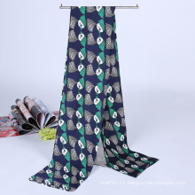 Lady Fashion Printed Satin Silk Magic Mutifunctional Collar Scarf (YKY1091-1)