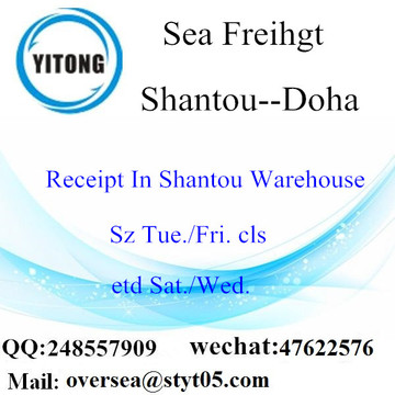 Shantou Port LCL Consolidation To Doha