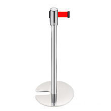 Stainless Steel Banner Simple Queue Manager, Retractable Belt Barrier/