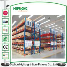 Sistemas de almacenamiento logístico de bastidor de metal resistente para trabajo pesado Warehouse