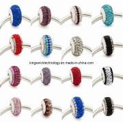 Fashion Jewellery 925 Sterling Silver European Style Crystal Glass Beads