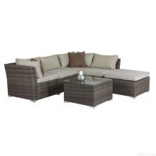 Vime do pátio Lounge sofá conjunto jardim ao ar livre do Rattan móveis