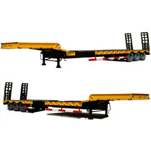 50ton Loading Capacity 3 Axles Low Bed Semi Trailer for Sale